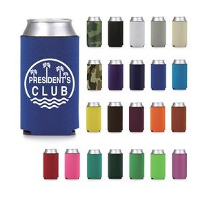 16oz. Premium Foam Can Cooler - Screen Printed