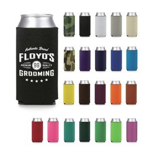 24oz Premium Foam Can Cooler-Screen Printed